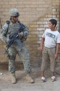 US Army Soldier on the streets of Iraq
